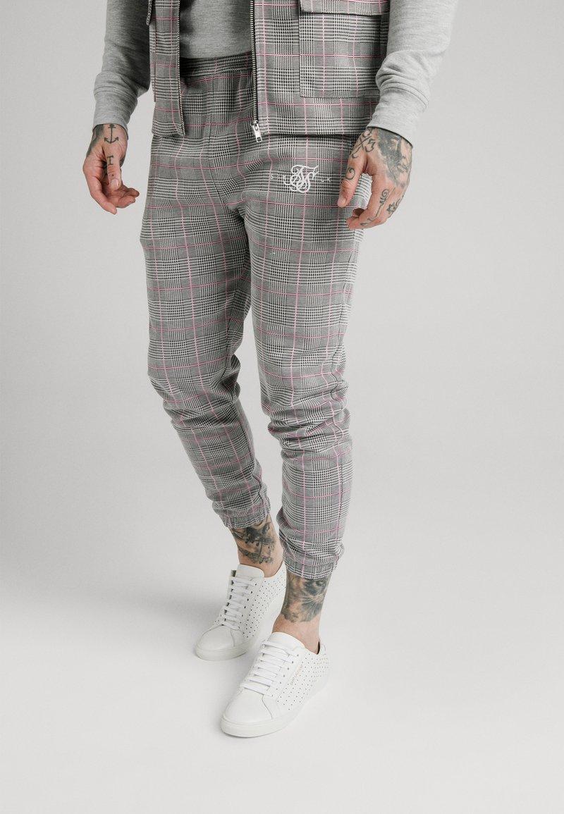 SIKSILK - SMART CUFF PANTS - Broek - grey/pink