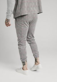 SIKSILK - SMART CUFF PANTS - Broek - grey/pink - 2