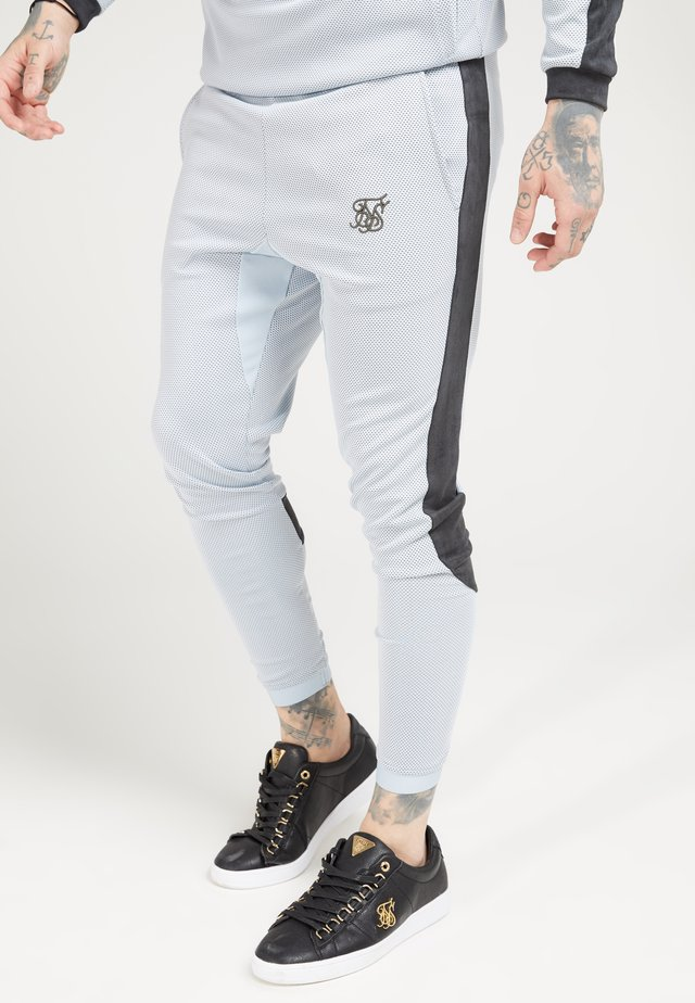 ATHLETE EYELET TAPE TRACK PANTS - Pantalon de survêtement - ice grey/charcoal