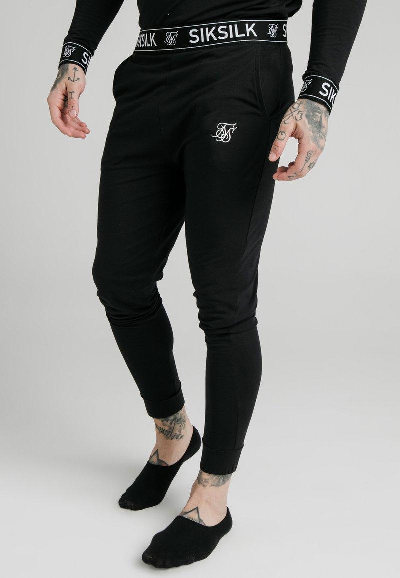 SIKSILK - LOUNGE PANTS - Teplákové kalhoty - black