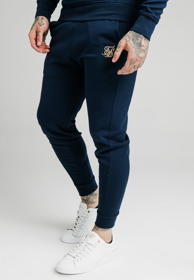 SIGNATURE TRACK PANTS - Tracksuit bottoms - navy