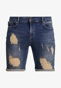 SIKSILK - DISTRESSED - Short en jean - midstone - 3