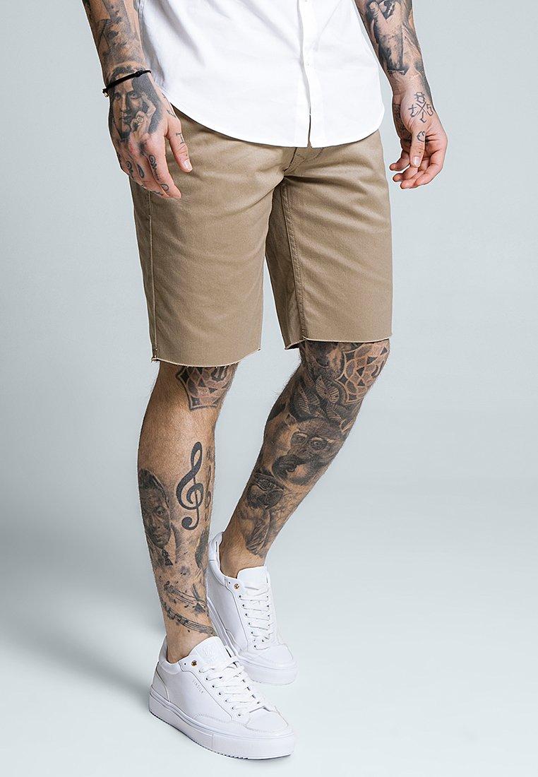 SIKSILK - RAW HEM - Shorts - beige