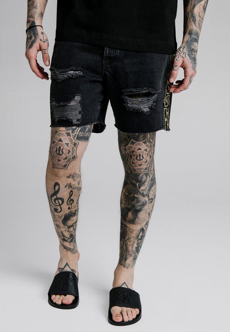 SIKSILK - CARTEL - Jeansshort - black