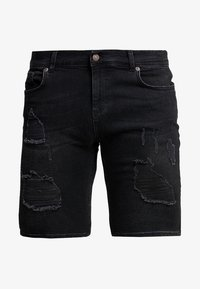 SIKSILK - Short en jean - washed black