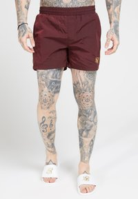 SIKSILK - CRUSHED TAPE - Shorts - burgundy/gold - 0