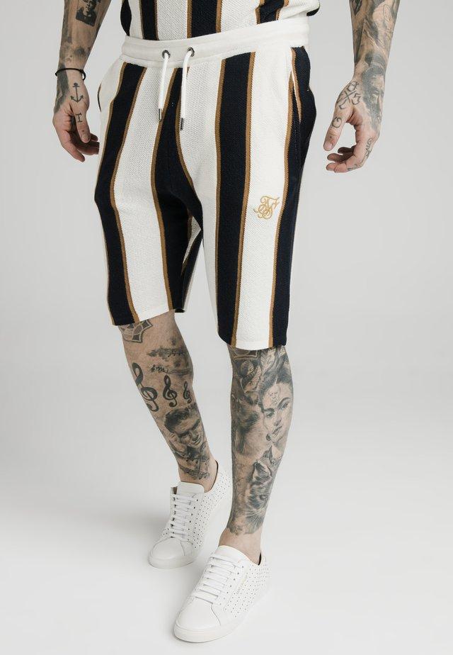 Shorts - off white/navy/gold