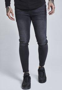 SIKSILK - Jeans slim fit - washed black - 0