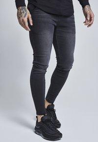 SIKSILK - Jeans slim fit - washed black - 1