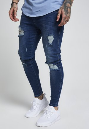 DISTRESSED - Jeansy Skinny Fit - midstone