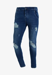 SIKSILK - DISTRESSED - Jeans Skinny Fit - midstone