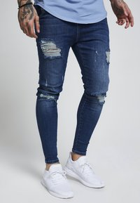 SIKSILK - DISTRESSED - Skinny džíny - midstone