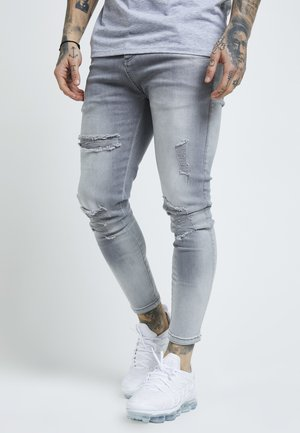 DISTRESSED SUPER - Jeansy Skinny Fit - washed grey