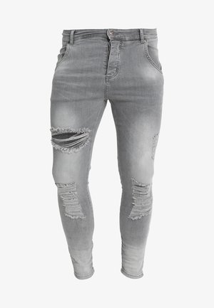 DISTRESSED SUPER - Vaqueros pitillo - washed grey