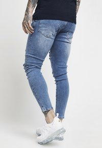 SIKSILK - DISTRESSED SUPER  - Jeansy Skinny Fit - mid wash denim - 2