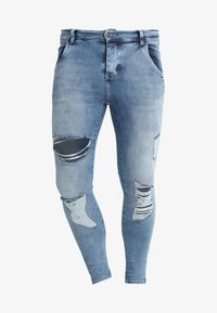 SIKSILK - DISTRESSED SUPER  - Jeans Skinny Fit - mid wash denim