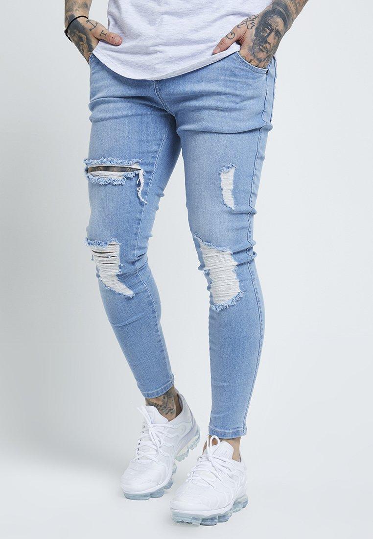 SIKSILK - DISTRESSED SUPER - Jeans Skinny - light wash denim
