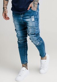 SIKSILK - PATCHWORK - Jeans Skinny Fit - washed blue - 4