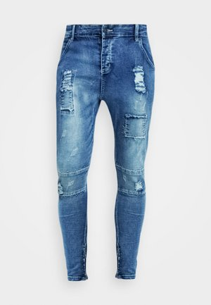 PATCHWORK - Jeans Skinny - washed blue