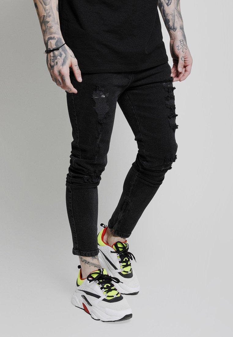 SIKSILK - VINTAGE PLUS - Jeans Skinny Fit - black