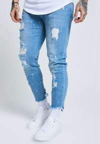 SIKSILK - RAW CUFF CROPPED - Jeans Skinny Fit - blue - 3