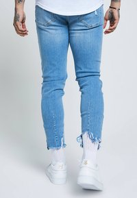 SIKSILK - RAW CUFF CROPPED - Jeans Skinny Fit - blue - 2