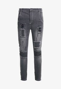 SIKSILK - PATCH - Skinny džíny - washed black - 3