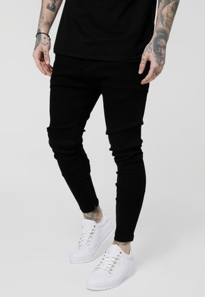LOW RISE REAR MAJESTIC ROSE - Jeans Skinny Fit - black