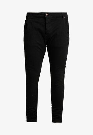 LOW RISE REAR MAJESTIC ROSE - Skinny džíny - black