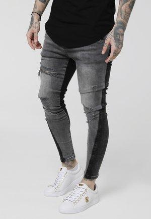 TWISTED HEM  - Džíny Slim Fit - washed black/grey