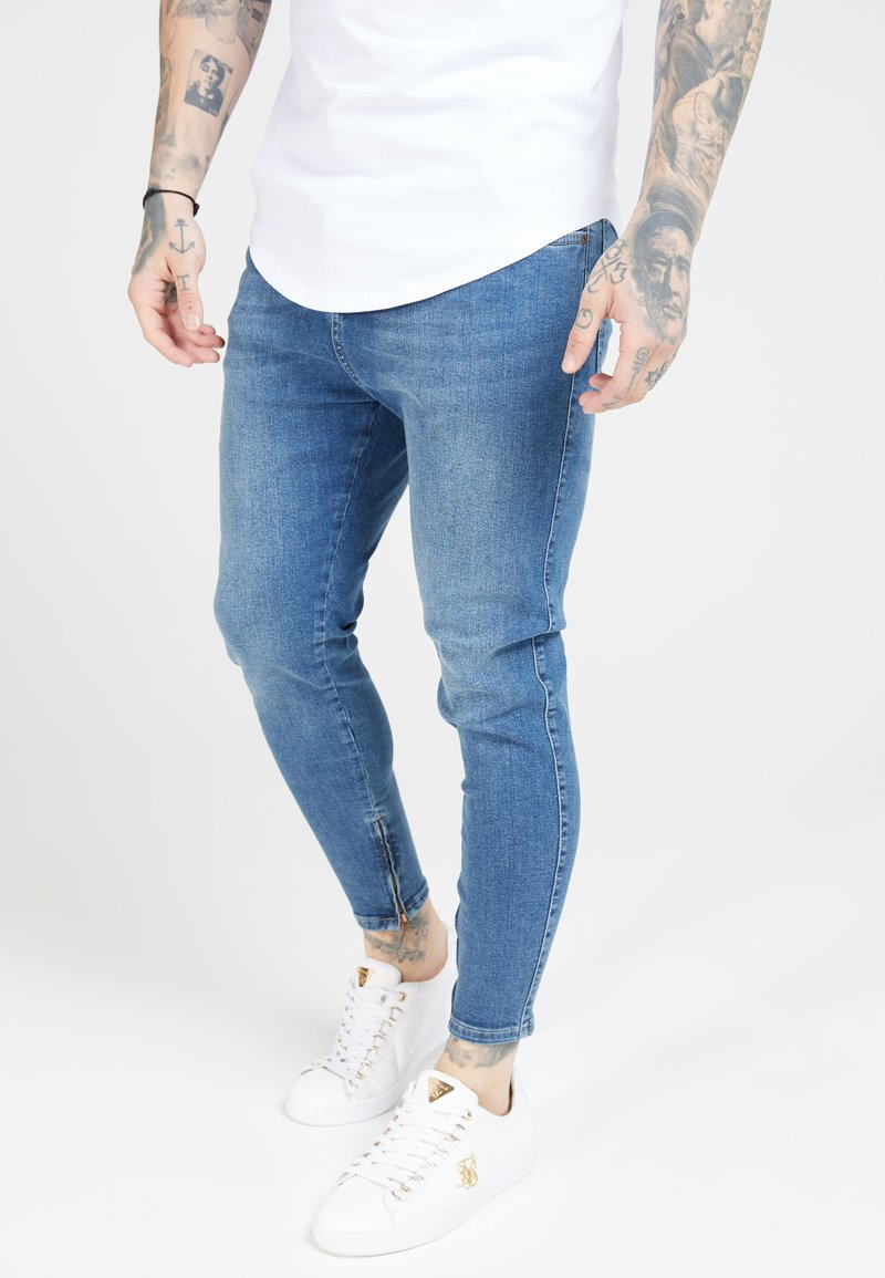 SIKSILK - Jeans Tapered Fit - midstone blue