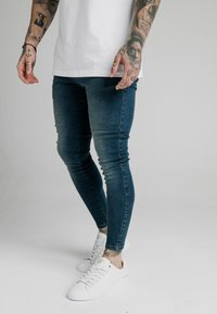 SIKSILK - Jeans slim fit - midstone blue - 4