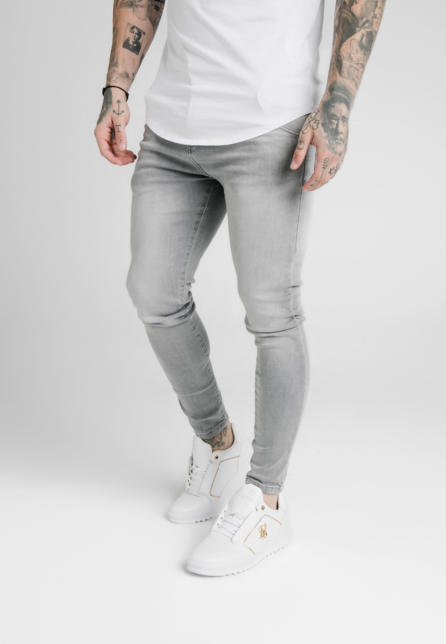 SIKSILK Jeansy Skinny Fit - washed grey