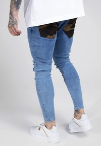 SIKSILK - BURST KNEE LOW RISE - Jeans Skinny Fit - midstone - 2