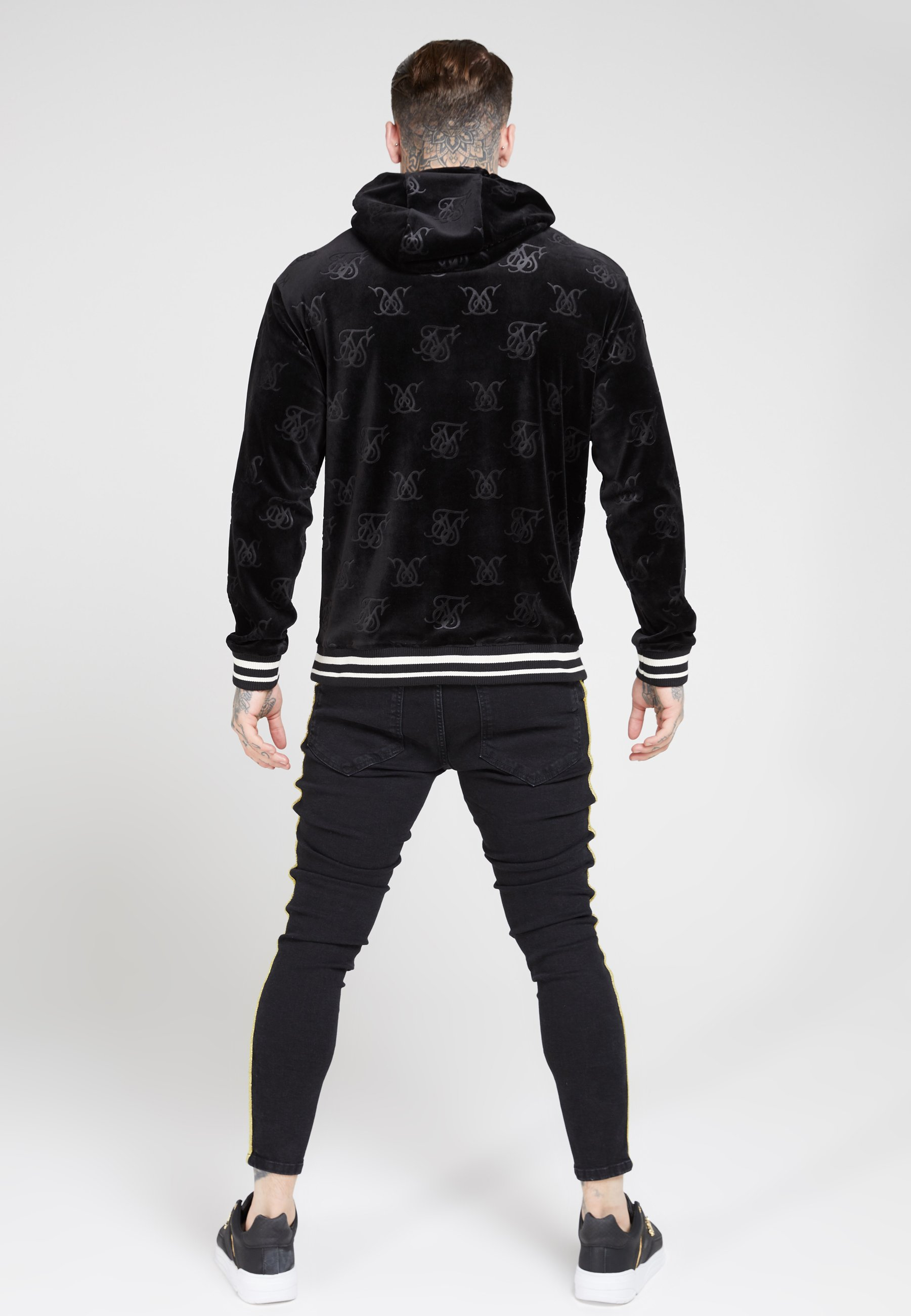 SIKSILK DISTRESSED TAPED - Jeansy Skinny Fit - washed black