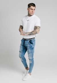 SIKSILK - ELASTICATED WAIST DISTRESSED - Jeans Skinny Fit - midstone blue - 1