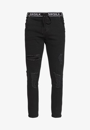 ELASTICATED WAIST DISTRESSED - Jeans Skinny - black