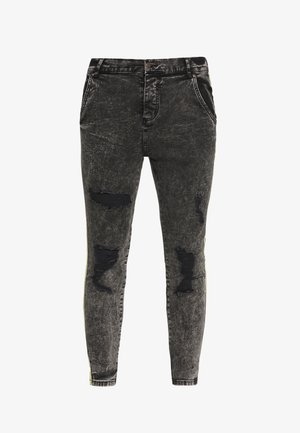 DISTRESSED TAPED - Skinny-Farkut - faded grey