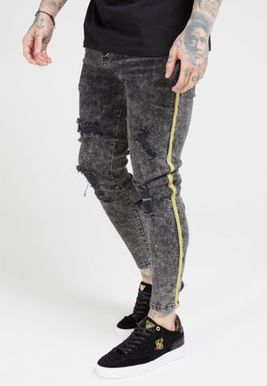 DISTRESSED TAPED - Jeans Skinny Fit - faded grey