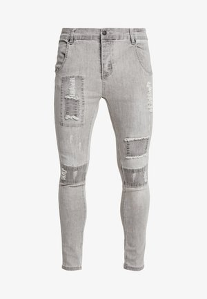 PATCHWORK - Vaqueros pitillo - washed grey