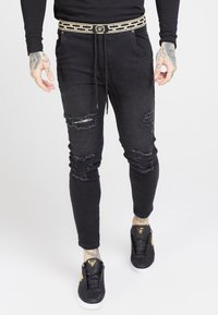 SIKSILK - ELASTICATED WAIST DISTRESSED - Jeans Skinny - black - 4