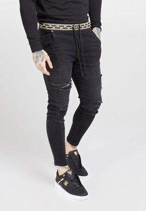 ELASTICATED WAIST DISTRESSED - Jeans Skinny - black