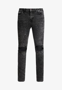 SIKSILK - BUST KNEE RIOT SKINNY JEANS - Jeans Skinny Fit - washed black - 3