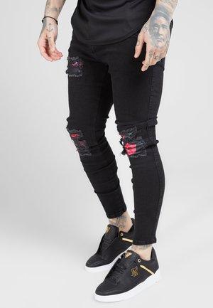 SIKSILK OIL PATCH - Jeans Skinny - black