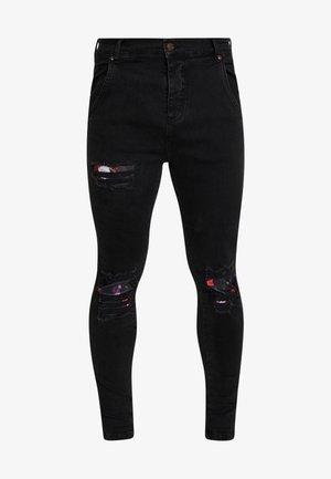 SIKSILK OIL PATCH - Skinny džíny - black