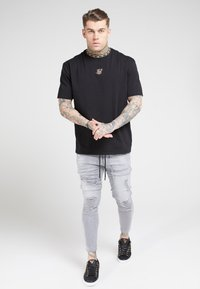 SIKSILK - ELASTICATED WAIST DISTRESSED - Jeans Tapered Fit - grey - 1