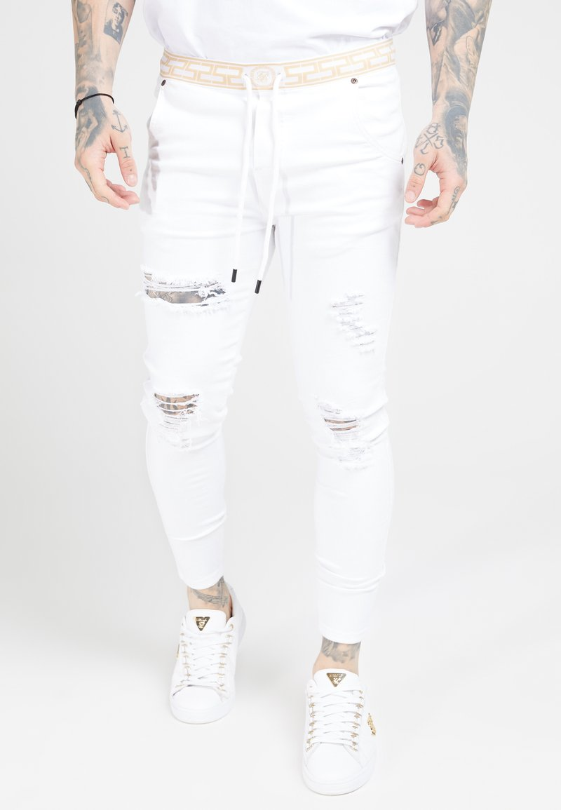 SIKSILK - DISTRESSED - Jeans Skinny Fit - white