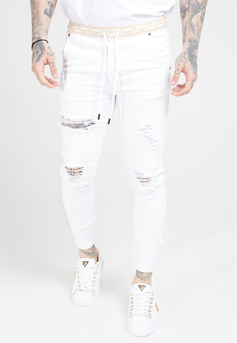 SIKSILK - DISTRESSED - Skinny džíny - white