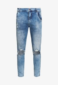 SIKSILK - DISTRESSED SLICE KNEE - Jeans Skinny - midstone blue - 3