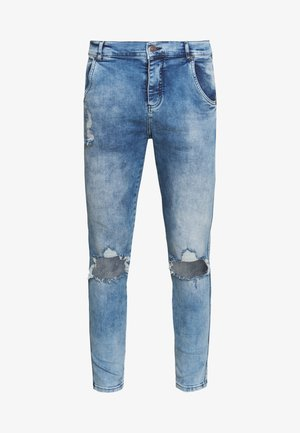 DISTRESSED SLICE KNEE - Jeans Skinny Fit - midstone blue